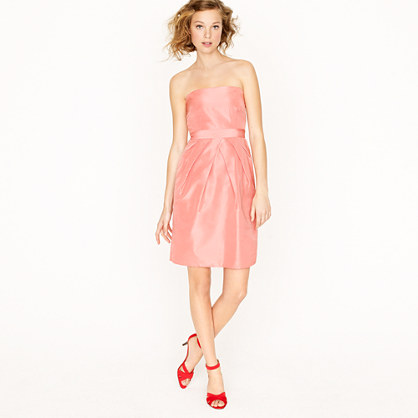 Petite Kayla dress in silk taffeta