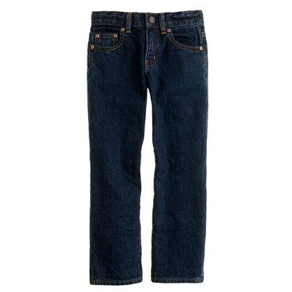 Boys' straight jean in dark rinse wash