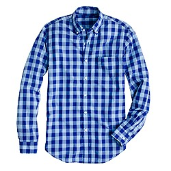 Tall Secret Wash shirt in two-tone gingham