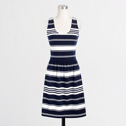 Factory stripe button-back sundress