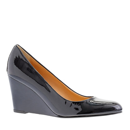 Martina patent wedges - wedges - Women's shoes - J.Crew :  comfortable wedge sculptural wedge simple wedge streamlined wedge