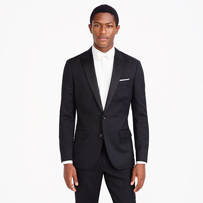 Ludlow tuxedo jacket with double vent in Italian wool