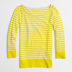 Factory stripe boatneck tee