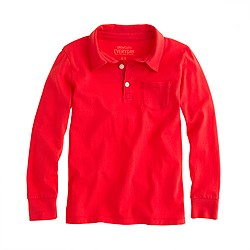 Boys' long-sleeve jersey polo