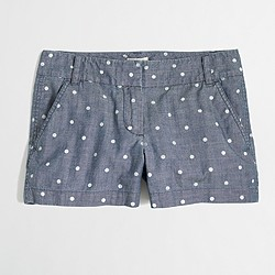 "Factory 3"" dotted chambray short"