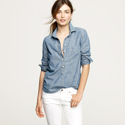 Selvedge chambray popover