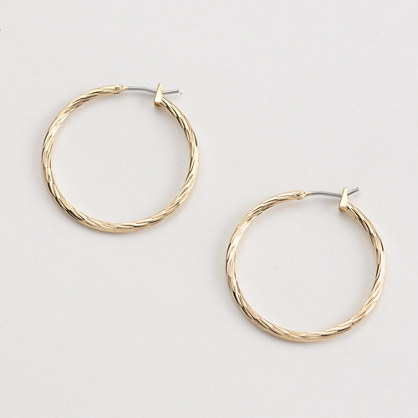 Factory textured hoop earrings