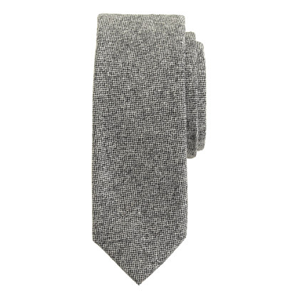 Bird's-eye wool tie