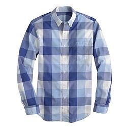 Tall lightweight shirt in regal blue gingham