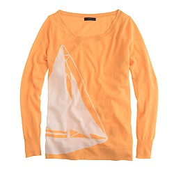 Collection featherweight cashmere sailboat sweater