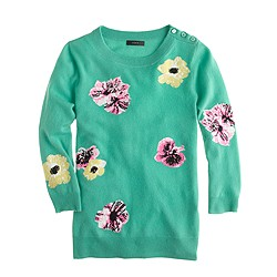 Collection cashmere sweater in punk floral