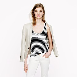 Collection cashmere stripe tank