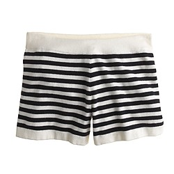 Collection cashmere stripe short