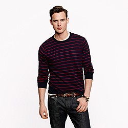 Cotton-cashmere sweater in stripe