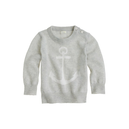 Collection cashmere baby sweater in anchor