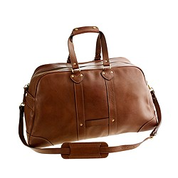 Montague leather weekender