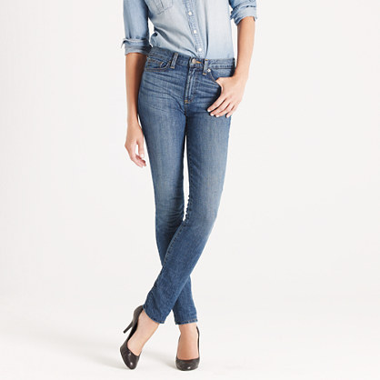 High-waisted skinny jean in adore me wash