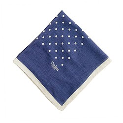 Drake's® silk dot handkerchief