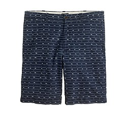 "11"" club short in indigo ikat"