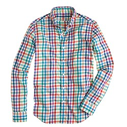 Tall lightweight shirt in multi tattersall