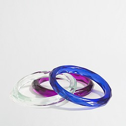 Factory girls' bright bangle three-pack