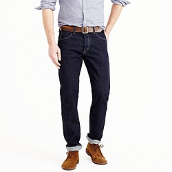 Wallace & Barnes slim selvedge jean in rinse wash