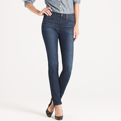 New high-waisted skinny jean in night owl wash