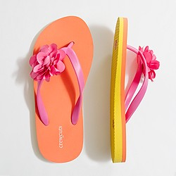 Factory girls' corsage flip-flops