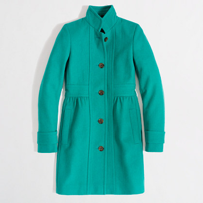 Factory skirted dress coat