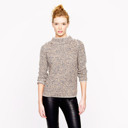 Collection cashmere back-zip mockneck sweater