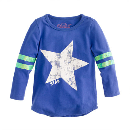 Girls' long-sleeve sport star tee