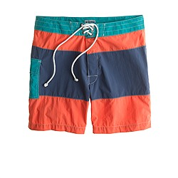 "7"" board shorts in cove harbor stripe"