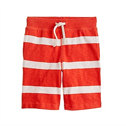 Boys' pull-on knit short in stripe
