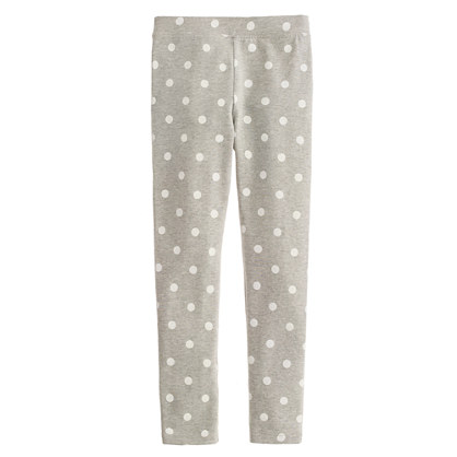 Girls' everyday leggings in polka dot