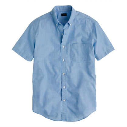 Secret Wash short-sleeve end-on-end shirt
