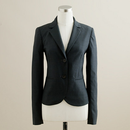 Tall Aubrey jacket in pinstripe Super 120s