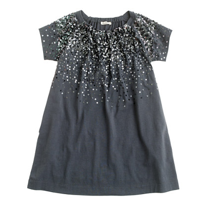 Girls' sequin splash dress