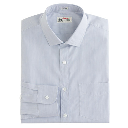 Thomas Mason® for J.Crew spread-collar dress shirt in fine stripe