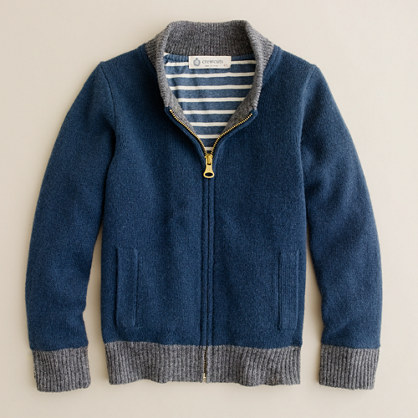 153a0038a Boys lambswool bomber jacket wool Boys sweaters J.Crew on PopScreen