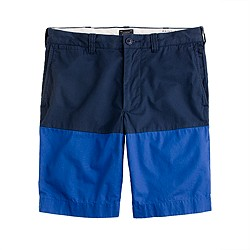 "9"" Stanton short in blue colorblock"
