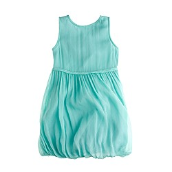 Girls' crinkle chiffon bubble dress