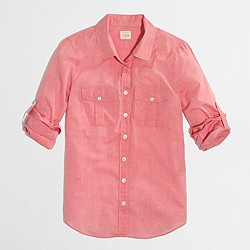 Factory camp shirt in cotton voile