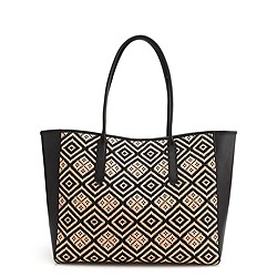Tartine tote in diamond raffia