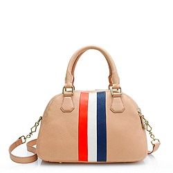 Biennial medium satchel in stripe