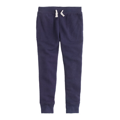 Girls' wafer terry sweatpant
