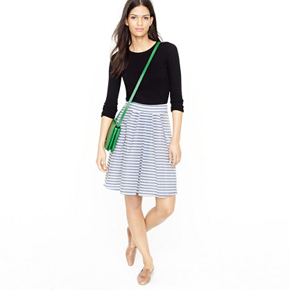 Gimlet skirt in coaster stripe