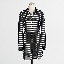Factory stripe two-pocket tunic
