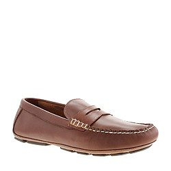 Thompson driving penny loafers