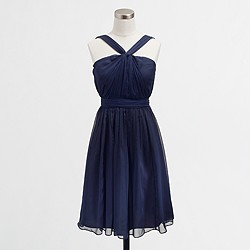 Factory pleated halter dress in poly