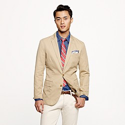 Tall Unconstructed Ludlow sportcoat in cotton twill